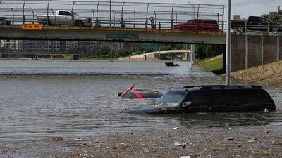 No es la primera vez que Houston es víctima de inundaciones. Esta imagen...