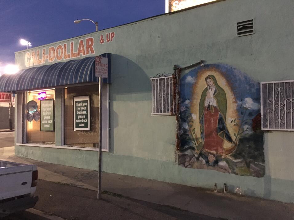 Un negocio de Los Ángeles que se beneficia de una imagen guadalup...