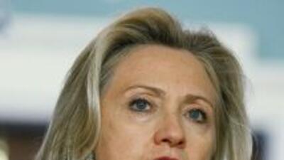 Hillary Clinton, secretaria de Estado de Estados Unidos dijo que el gobi...