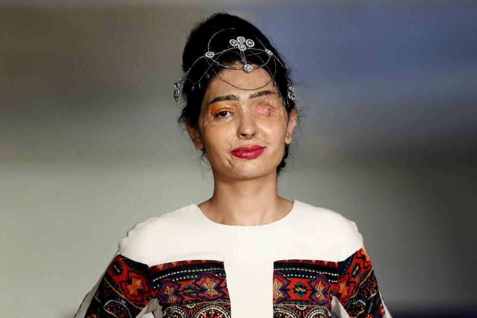 La modelo Reshma Quereshi modelará los trajes de la colección primavera-...