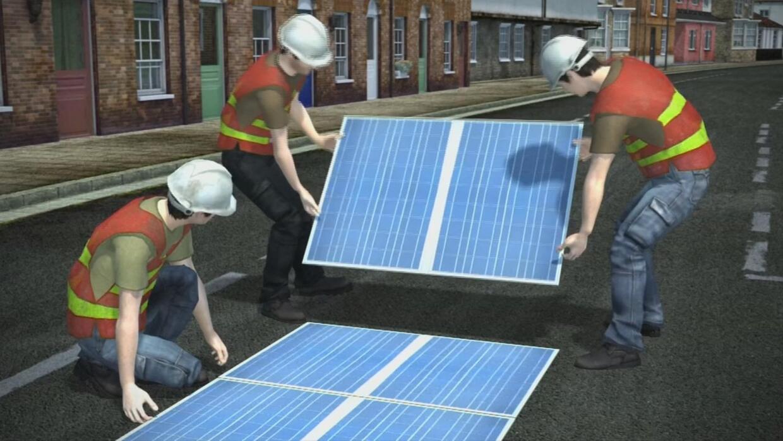 Animación: Francia usará carreteras para capturar energía solar