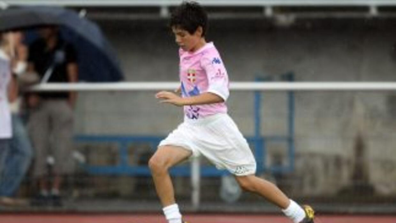 Luca Zidane apenas tiene 15 años y juega como portero.