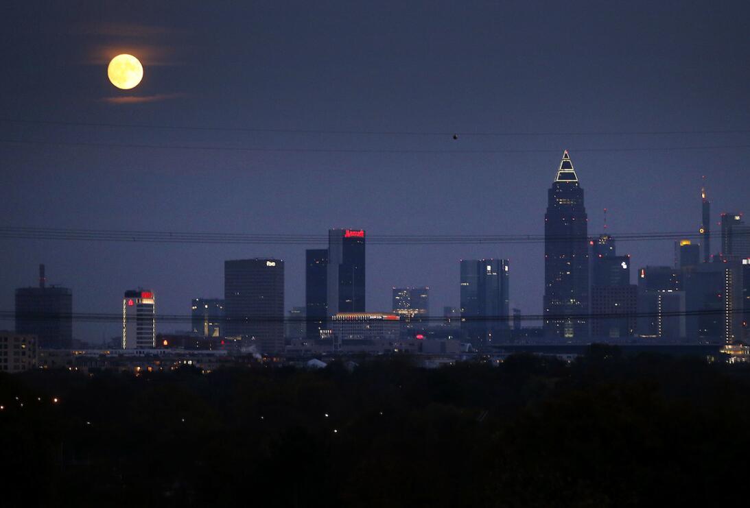 Superluna en Frankfurt, Alemania