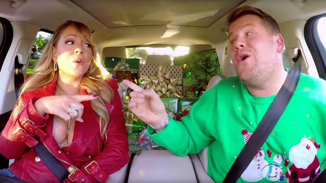 Mariah Carey Joins James Corden For Christmas Version Of Carpool Karaoke