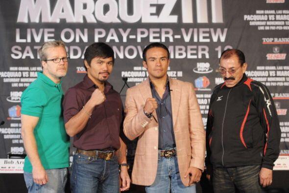 Pacquiao y Márquez se enfrentaran por tercera ocasion el próximo 12 de n...