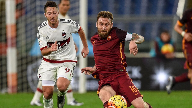 Roma y Milan empataron a uno