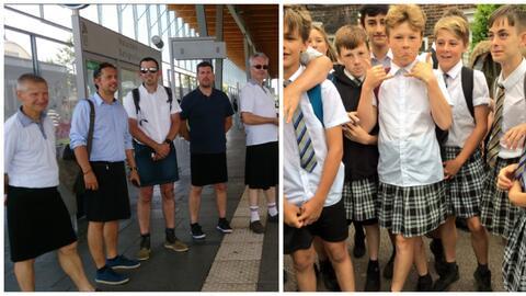 Conductores de autobus en Francia y jovencito de un colegio en Inglaterr...