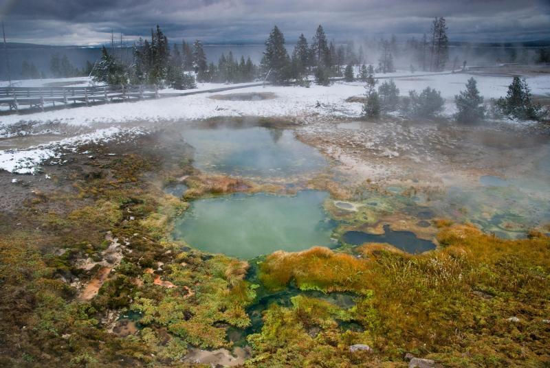 Así se ve el invierno en los parques nacionales de Estados Unidos Yellow...