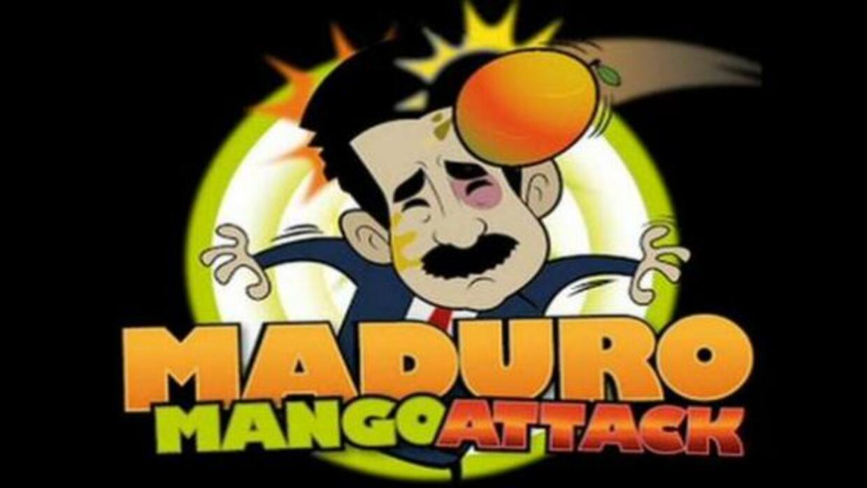 El objetivo del juego es acumular puntos lanzándole un mango a Maduro mi...