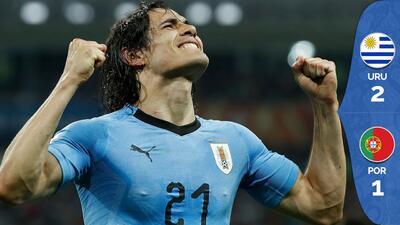 Dos golazos de Cavani ponen a Uruguay en cuartos de final y dejan el Mundial sin CR7