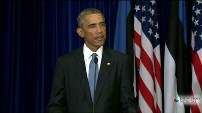 Obama: esos terroristas no nos intimidarán