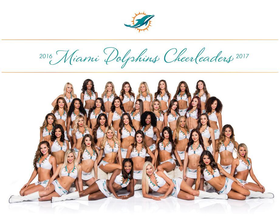 Los Dolphins seleccionaron a 36 porristas para la escuadra más internaci...