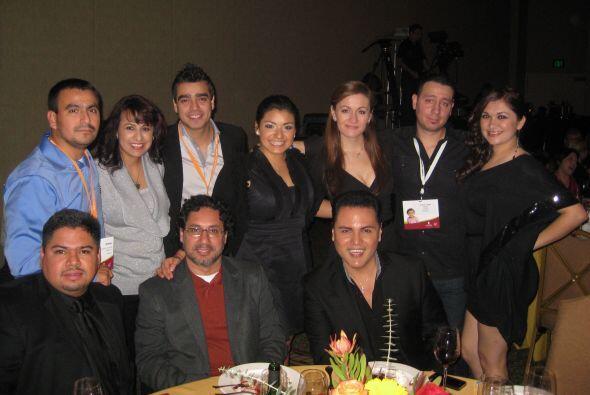 Miembros del equipo de Univision Radio de Chicago y otras estaciones del...