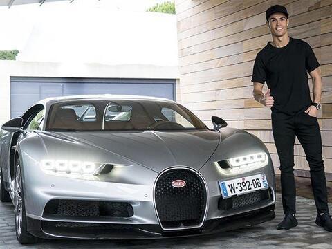 Cristiano Ronaldo y su Bugatti Chiron