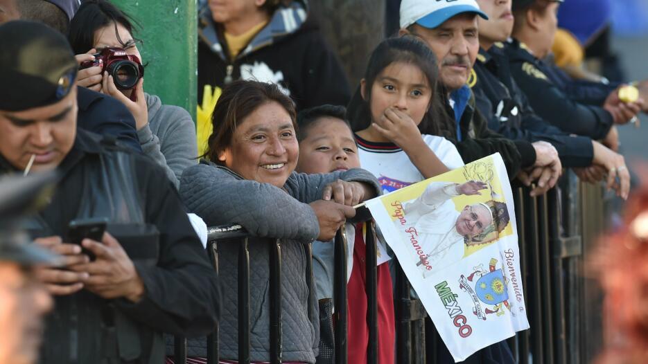 LLegada Papa Francisco México