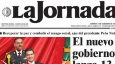 Portada del periódico mexicano La Jornada del domingo 2 de diciembre de...