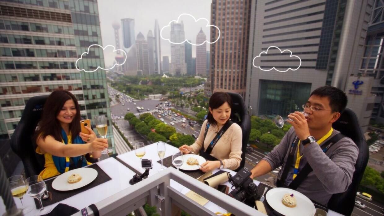 Dinner in the Sky: una comida a 45 metros de altura