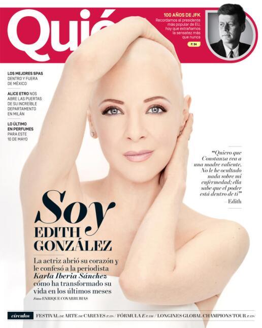 Edith Gonzalez en revista Quién