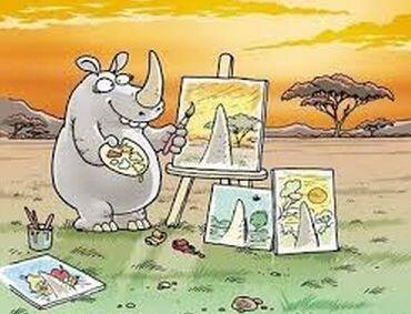 """""""La obra de arte del rinoceronte""""."""