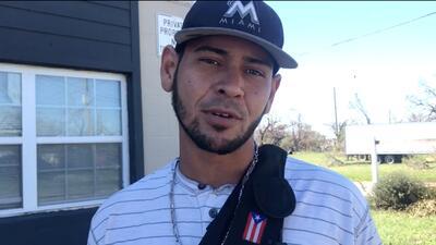 """""""Del cielo volví al infierno"""": este puertorriqueño sobrevivió a María y ahora a Michael"""
