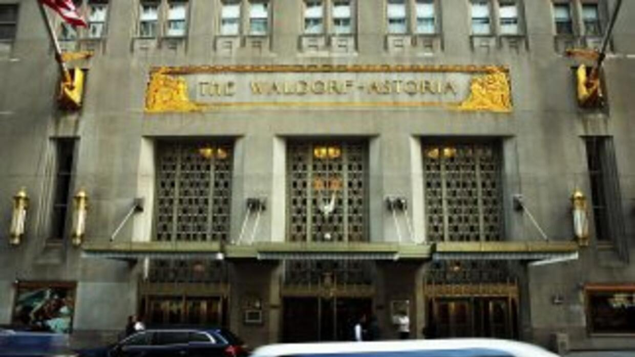 El exclusivo hotel Waldorf Astoria en Nueva York.