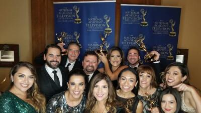 El trabajo del equipo de KUVN fue premiado en San Antonio con varios Emmys.