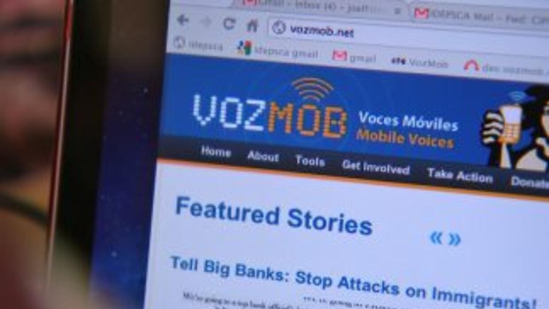 La gente del grupo Voces Móviles habló sobre su experiencia en la web.