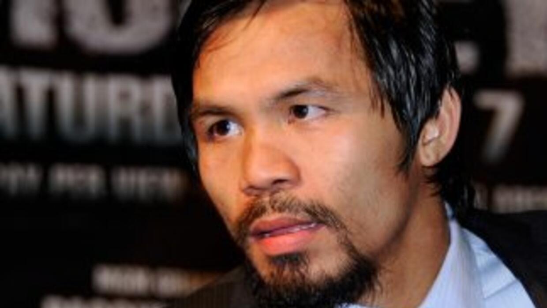 Manny Pacquiao comentó que no puede hacer nada si su rival sale a no pel...