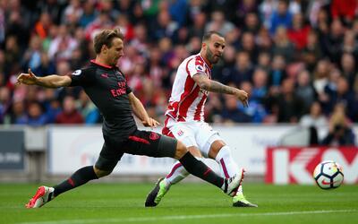 Jesé anotando su gol contra Arsenal