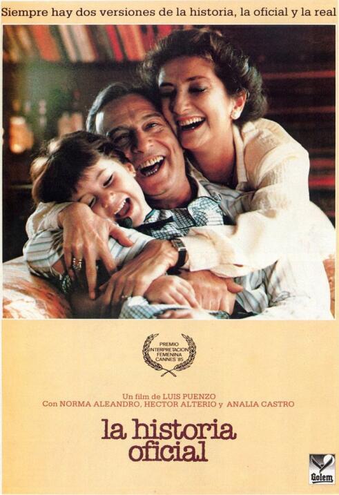 La historia oficial fue la primera película argentina y latina en ganar...