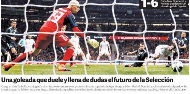 Medios del mundo destacaron la humillación de Argentina contra España  c...