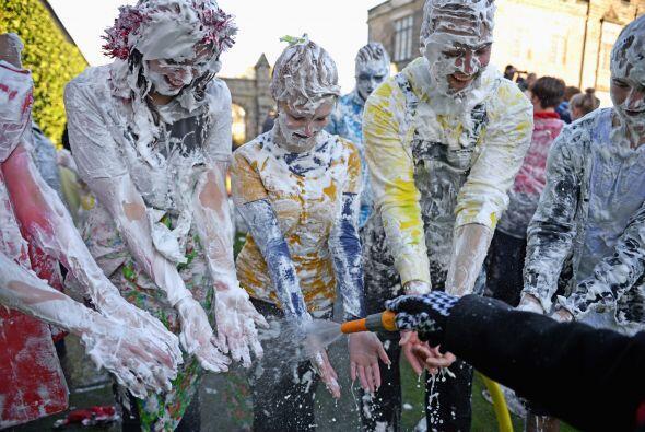 Los estudiantes de la Universidad de St Andrews participaron en la celeb...