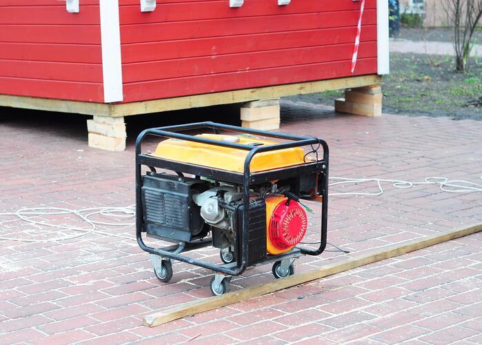 Si llega a haber un corte eléctrico nunca uses dentro de casa generadore...