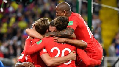 En fotos: Inglaterra clasificó a cuartos de final tras eliminar a Colombia en Rusia 2018
