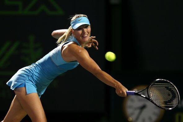 Tras avanzar en el torneo de Miami en Key Biscayne, Sharapova nuevamente...