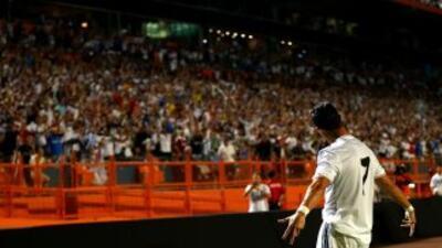 Cristiano Ronaldo en Miami, cuando jugó contra el Chelsea.