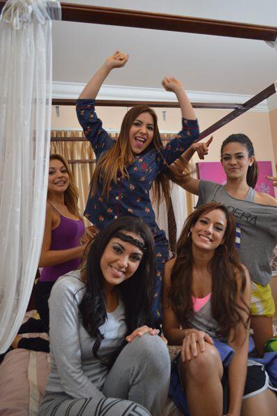 Las finalistas organizaron una fiesta en pijama para olvidar el estrés d...