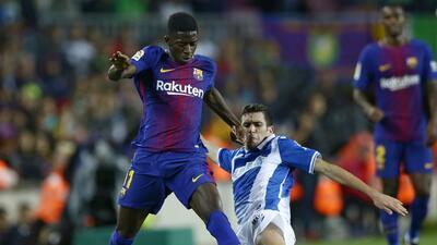 Ousmane Dembélé, que no jugará El Clásico por lesión, ha sumado apenas 5...