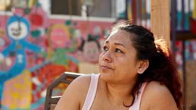 Luz María Hernández en Tijuana, México, tras vivir...