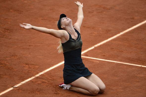 "A los 25 años Sharapova consiguió el ""Grand Slam de carrera""."