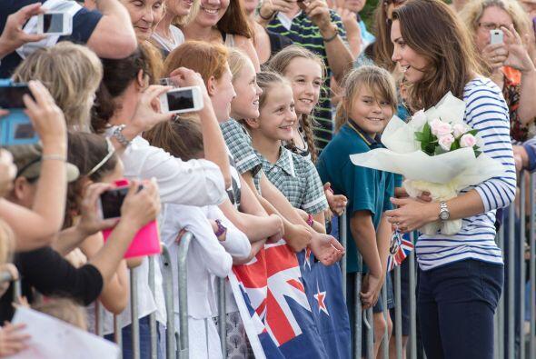 Kate Middleton y el príncipe William se encuetran de visita en Nueva Zel...