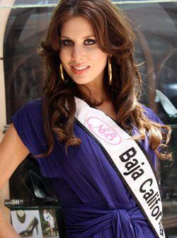 Baja California está representado por Ana Sofía Gallego de 21 años.