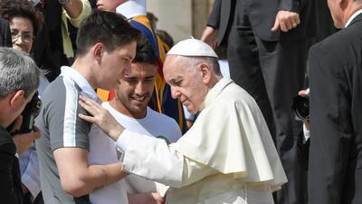 El papa saludó al equipo de fútbol brasileño del Chapecoense