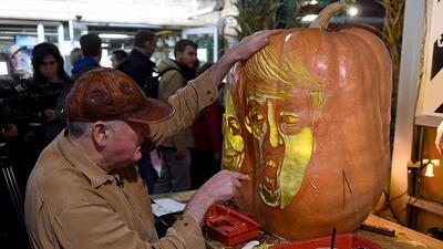 Los candidatos presidenciales hasta en las calabazas de Halloween