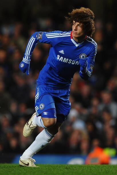El brasileño David Luiz también debutó con los 'Blues'.