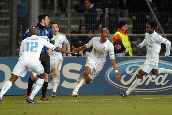 Y su remate acabó en el fondo de las redes del Inter.
