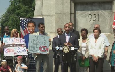 Legisladores piden que sean removidas placas y estatuas de líderes confe...