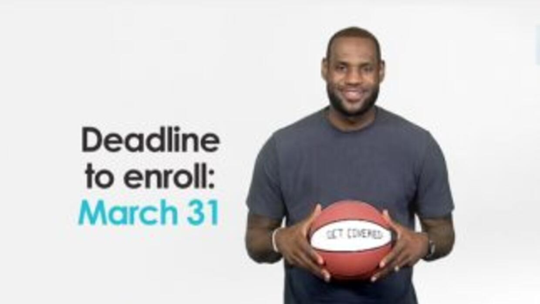 La extrella del Miami Heat, LeBron James, grabó un video promoviendo la...