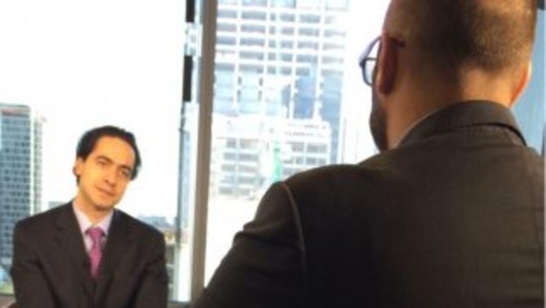 Roberto Hernández, durante la entrevista.