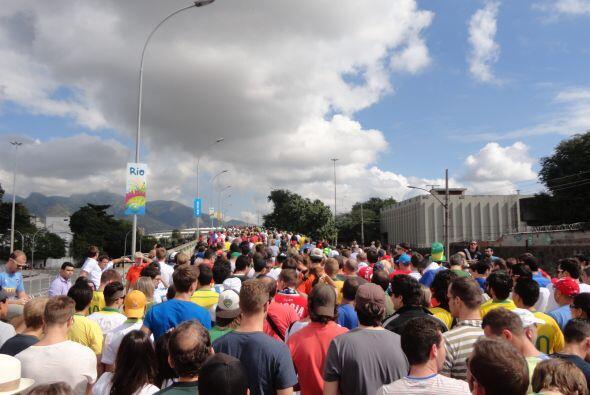 75,000 personas se dieron paso hacia Maracaná en los partidos en los que...